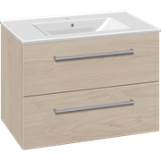 Furniture pack with drawers and Simone porcelain washbasin, 80 cm