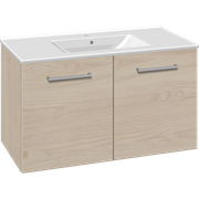 Furniture pack with doors and Simone porcelain washbasin, 100 cm
