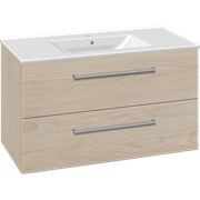 Furniture pack with drawers and Simone porcelain washbasin, 100 cm