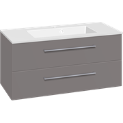 Furniture pack with drawers and Micca solid surface washbasin, 100 cm