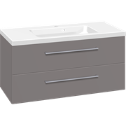 Furniture pack with 2 drawers and Aura washbasin, 100 cm