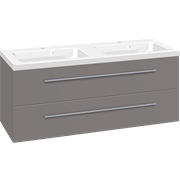 Furniture pack with 2 drawers and Aura twin washbasin, 120 cm