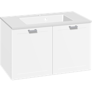 Furniture pack with doors and Micca solid surface washbasin, 80 cm