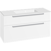 Furniture pack with drawers and Micca solid surface washbasin, 120 cm