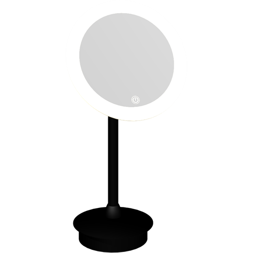Make-up mirror ø21,6 cm on stand with 5x magnification