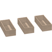 Wooden trays for 40 cm tall cabinet, 3 pcs.
