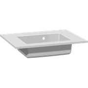 Minore solid surface washbasin 60 cm, with tap hole