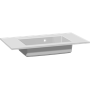 Minore solid surface washbasin 80 cm, with tap hole