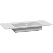 Minore solid surface washbasin 100 cm, with tap hole