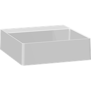 Marcato solid surface sit-on washbasin 40 cm, without tap hole