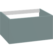 Cabinet 60 cm for worktops and right-/left placed sit-on washbasin with 1 drawer