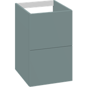 Cabinet 40 cm for worktops and right-/left placed sit-on washbasin with 2 drawers