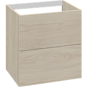Cabinet 60 cm for worktops and right-/left placed sit-on washbasin with 2 drawers
