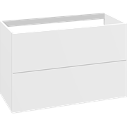 Cabinet 100 cm for worktops and right-/left placed sit-on washbasin with 2 drawers