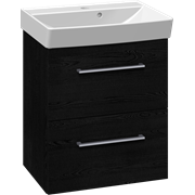 Furniture pack with 2 drawers and Cappella washbasin, 52 cm