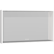 Display Framed mirror with shelf and adjustable light, 60x100x14 cm
