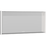 Display Framed mirror with shelf and adjustable light, 60x120x14 cm