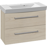 Furniture pack with 2 drawers and Cappella washbasin, 82 cm