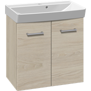 Furniture set with vanity unit and Cappella washbasin, 62 cm