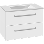 Set with vanity unit 81 cm with drawers and Dina porcelain washbasin