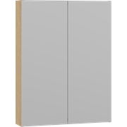 Style mirror cabinet 60 cm with 2 doors and adjustable light, optional lights