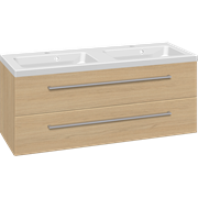 Furniture set with 2 drawers and Aura twin washbasin, 120 cm