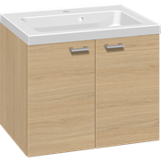 Furniture set with 2 doors, and Aura washbasin, 60 cm