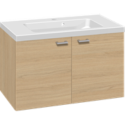 Furniture set with 2 doors, and Aura washbasin, 80 cm