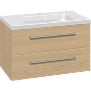 Furniture set with 2 drawers and Aura washbasin, 80 cm