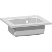 Mini Minore solid surface washbasin 40 cm, without tap hole