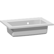 Mini minore solid surface washbasin 50 cm, without taphole