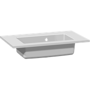 Mini minore solid surface washbasin 60 cm, without taphole