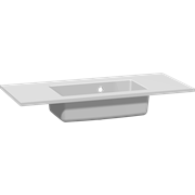 Mini minore solid surface washbasin 80 cm, without taphole