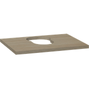 Wooden countertop for Piano washbasins, 3x60x46 cm, centre