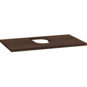 Wooden countertop for Piano and Canto washbasins, 3x80x46 cm, centre