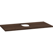 Wooden countertop for Piano and Canto washbasins, 3x100x46 cm, centre