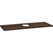 Wooden countertop for Piano and Canto washbasins, 3x120x46 cm, centre