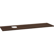 Wooden countertop for Piano and Canto washbasins, 3x160x46 cm, left