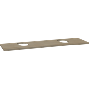 Wooden countertop for Piano and Canto washbasins, 3x160x46 cm