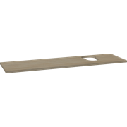 Wooden countertop for Piano and Canto washbasins, 3x160x46 cm, right