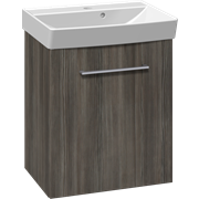 Furniture pack with 1 door and Cappella washbasin, 52 cm