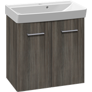 Furniture pack with doors, and Cappella washbasin, 62 cm